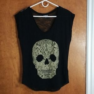 Express- Skull Lace Blouse